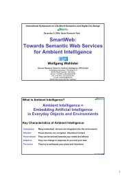 Semantic Web Services - SmartWeb Project - DFKI