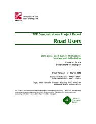 Road Users - UWE Research Repository - University of the West of ...