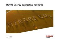 DONG Energy og strategi for 85/15 - DBDH
