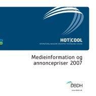 Medieinformation og annoncepriser 2007 - DBDH