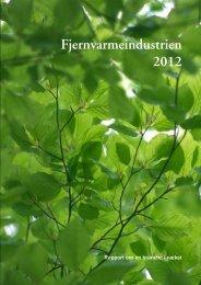 Rapport - Fjernvarmeindustrien 2012 - DBDH