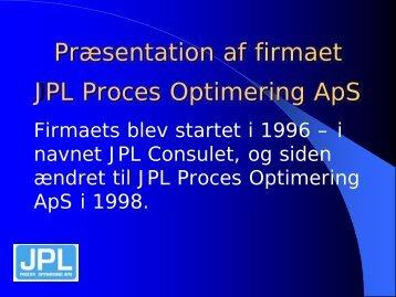 JPL Proces Optimering - DBDH