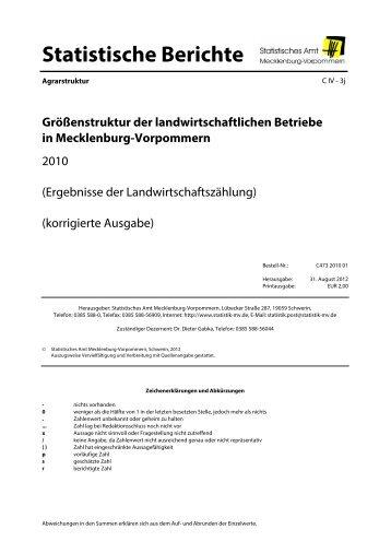 C473 Größenstruktur der landwirtschaftlichen Betriebe 2010