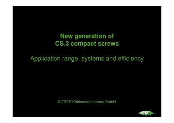 New generation of CS.3 compact screws Application range, systems ...
