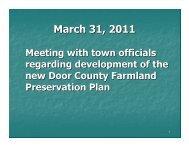 March 31, 2011 - Door County Web Map
