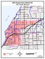 Guide to Significant Wildlife Habitat - Door County Web Map on