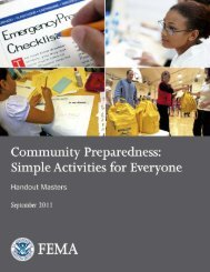 Handout Masters - Emergency Management Institute - Federal ...