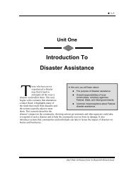 Introduction To Disaster Assistance - Emergency Management ...