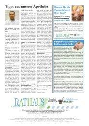 Tipps aus unserer Apotheke - Rathaus - Apotheke Oberasbach