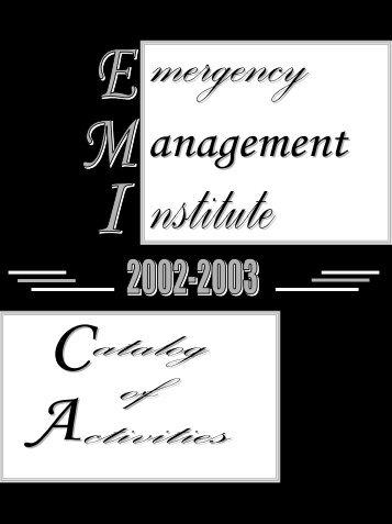 No Slide Title - Emergency Management Institute - Federal ...