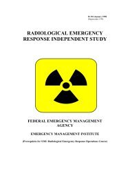 RADIOLOGICAL EMERGENCY RESPONSE INDEPENDENT STUDY