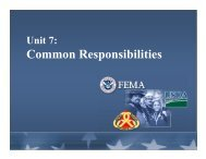 Unit 7: Common Responsibilities