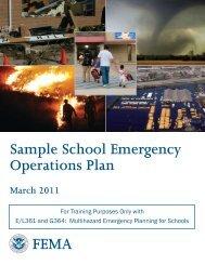Sample School Emergency Operations Plan