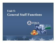 Unit 5: General Staff Functions - Emergency Management Institute