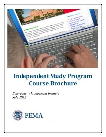 Independent Study Course Brochure - Emergency Management ...