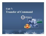 Unit 7: Transfer of Command