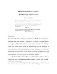 Chapter 3. Security in the Caribbean - Political Database of the ...