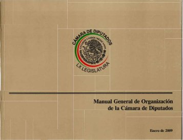 Manual General de Organización de la Cámara de Diputados ...