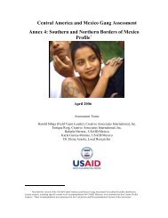 Central America and Mexico Gang Assessment - Political Database ...