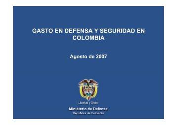 GASTO EN DEFENSA Y SEGURIDAD EN COLOMBIA