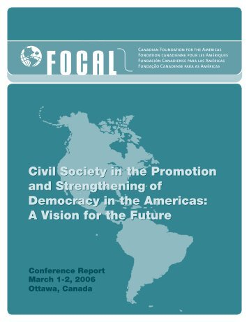Civil Society in the Promotion and Strengthening of - Political ...