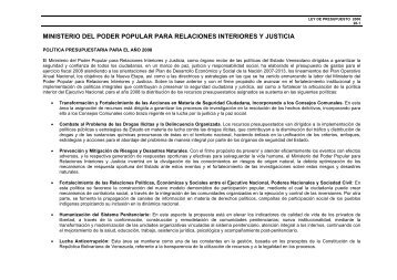 Proyecto financiado con r for Ministerio de relaciones interior