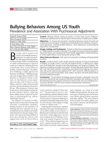 an analysis of bullying among children 14092016 we completed a cross-sectional analysis of 3956 children aged 12 to 13  the intersectionality of discrimination attributes and bullying among.