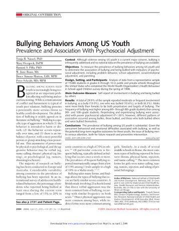 Breaking down bullying