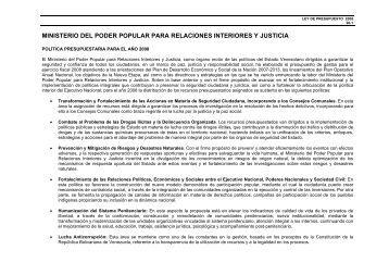 Contenido presentaci n 7 for Ministerio de relaciones interiores y justicia
