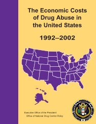 The Economic Costs of Drug Abuse in the United States: 1992–2002