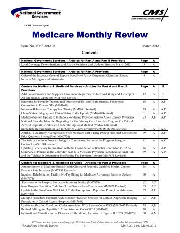 Medicare UB-04 Other Codes - National Government Services