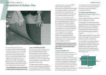 Installation of Rubber Tiles - Polyflor