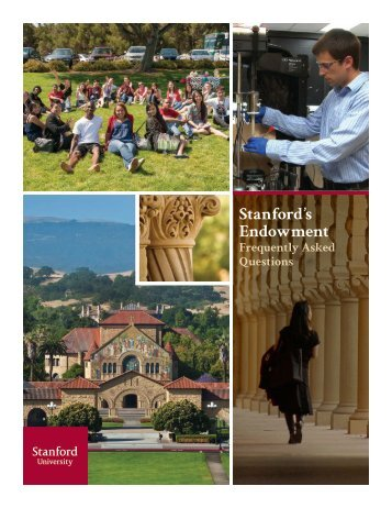 Stanford's Endowment: Frequently Asked Questions - Giving to ...