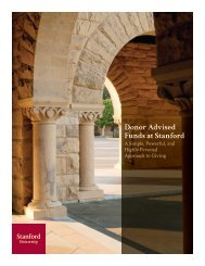 Donor Advised Funds [PDF] - Giving to Stanford - Stanford University
