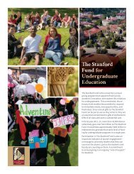 The Stanford Fund for Undergraduate Education [PDF] - Giving to ...