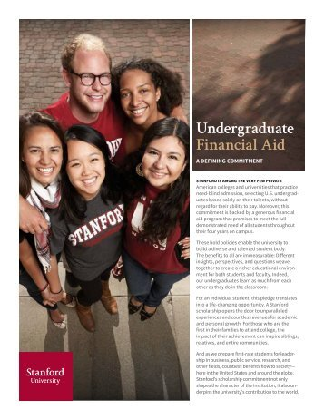 Undergraduate Financial Aid: A Defining Commitment [PDF]