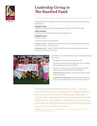 Leadership Giving to The Stanford Fund [PDF] - Giving to Stanford ...