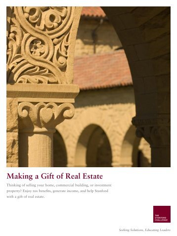Making a Gift of Real Estate - Giving to Stanford - Stanford University