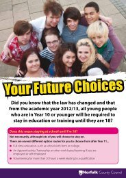 2013 Raising of the Participation Age - leaflet for young people