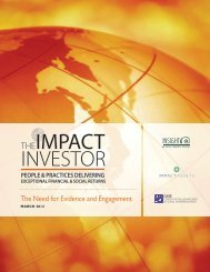 THEIMPACT INVESTOR - Stanford Center for Philanthropy and Civil ...