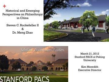 Philanthropy - Stanford Center for Philanthropy and Civil Society ...