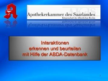Informationen über Arzneimittel - Apothekerkammer
