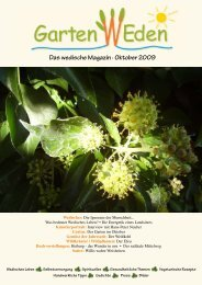 Das wedische Magazin . Oktober 2009 - Garten Weden