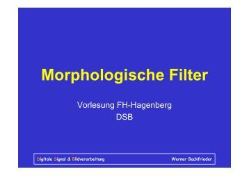 Morphologische Filter