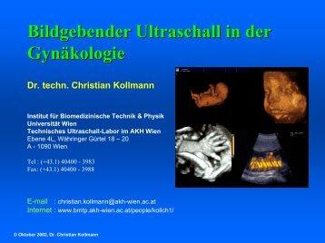 Der Ultraschall in der Medizin