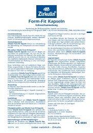 Form-Fit Kapseln - Eurapon