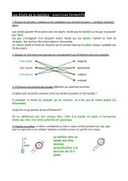 Les états de la matière : exercices formatifs - OVH.net