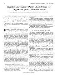 Irregular Low-Density Parity-Check Codes for Long-Haul Optical ...