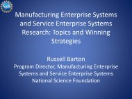 Manufacturing Enterprise Systems and Service Enterprise Systems ...