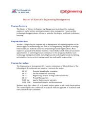 Master of Science in Engineering Management - College of ...
